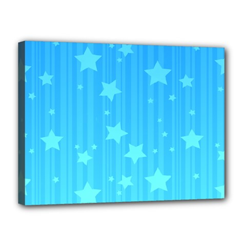 Star Blue Sky Space Line Vertical Light Canvas 16  X 12  by Mariart