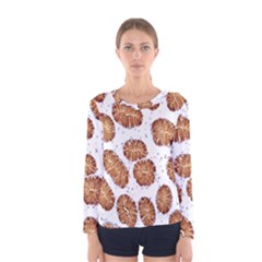 Formalin Paraffin Human Stomach Stained Bacteria Brown Women s Long Sleeve Tee by Mariart