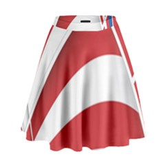 American Flag Star Blue Line Red White High Waist Skirt by Mariart