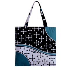 Decoboom Custom Pickguard Engraved Eames Dots Zipper Grocery Tote Bag by Mariart