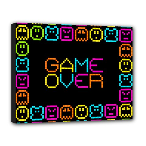 Game Face Mask Sign Canvas 14  X 11  by Mariart