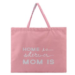 Home Love Mom Sexy Pink Zipper Large Tote Bag by Mariart