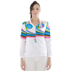 Colored Lines Rainbow Wind Breaker (women) by Mariart