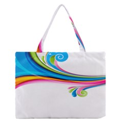 Colored Lines Rainbow Medium Zipper Tote Bag by Mariart