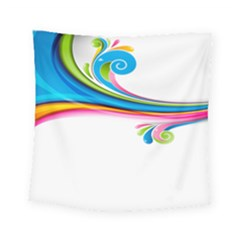 Colored Lines Rainbow Square Tapestry (small) by Mariart