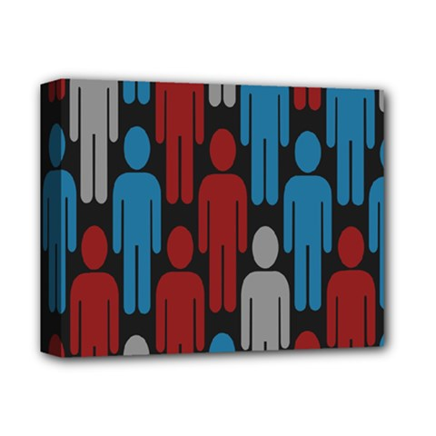 Human Man People Red Blue Grey Black Deluxe Canvas 14  X 11  by Mariart