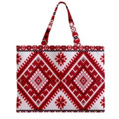 Fabric Aztec Zipper Mini Tote Bag by Mariart