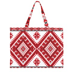 Fabric Aztec Large Tote Bag by Mariart