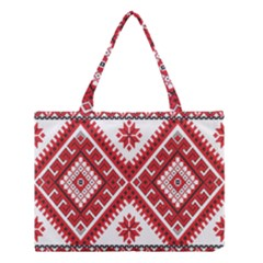 Fabric Aztec Medium Tote Bag by Mariart
