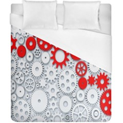 Iron Chain White Red Duvet Cover (california King Size) by Mariart
