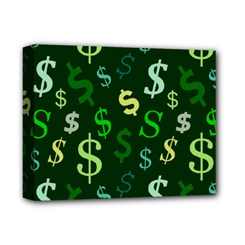 Money Us Dollar Green Deluxe Canvas 14  X 11  by Mariart