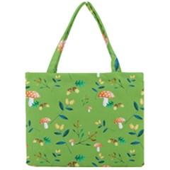 Mushrooms Flower Leaf Tulip Mini Tote Bag by Mariart