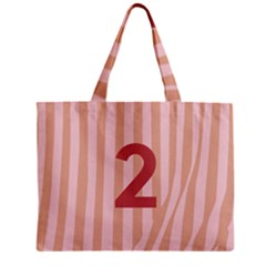 Number 2 Line Vertical Red Pink Wave Chevron Zipper Mini Tote Bag by Mariart