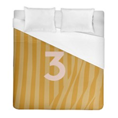 Number 3 Line Vertical Yellow Pink Orange Wave Chevron Duvet Cover (full/ Double Size) by Mariart