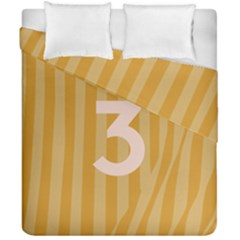 Number 3 Line Vertical Yellow Pink Orange Wave Chevron Duvet Cover Double Side (california King Size) by Mariart