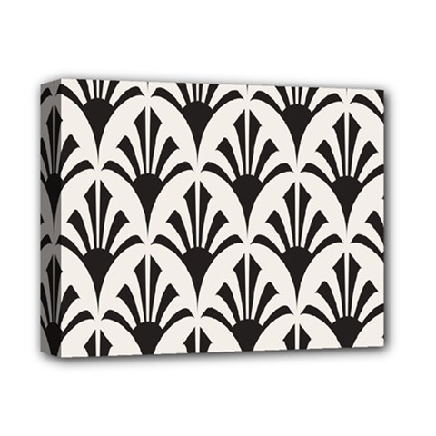 Parade Art Deco Style Neutral Vinyl Deluxe Canvas 14  X 11  by Mariart