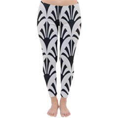 Parade Art Deco Style Neutral Vinyl Classic Winter Leggings by Mariart