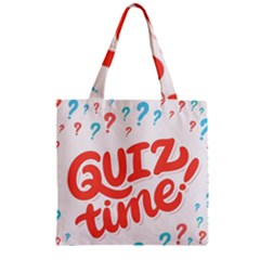 Question Mark Quiz Time Zipper Grocery Tote Bag by Mariart