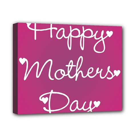 Valentine Happy Mothers Day Pink Heart Love Canvas 10  X 8  by Mariart