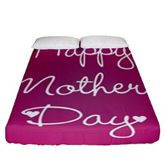Valentine Happy Mothers Day Pink Heart Love Fitted Sheet (california King Size) by Mariart