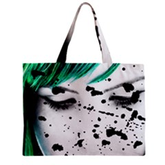 Beauty Woman Close Up Artistic Portrait Zipper Mini Tote Bag by dflcprints