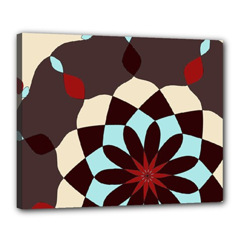 Red And Black Flower Pattern Canvas 20  X 16  by theunrulyartist