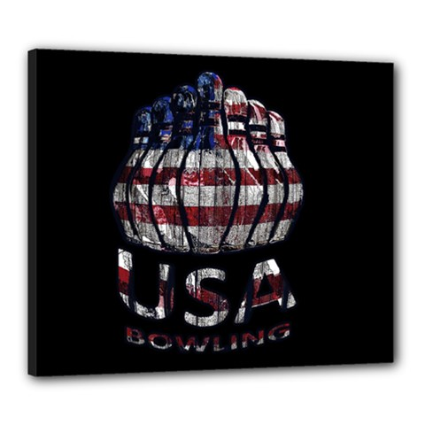 Usa Bowling  Canvas 24  X 20  by Valentinaart