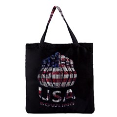 Usa Bowling  Grocery Tote Bag by Valentinaart
