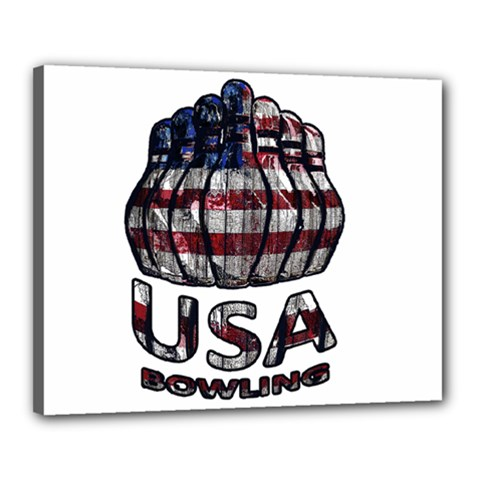 Usa Bowling  Canvas 20  X 16  by Valentinaart