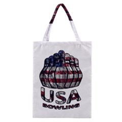 Usa Bowling  Classic Tote Bag by Valentinaart