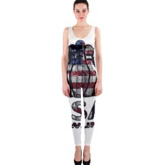 Usa Bowling  Onepiece Catsuit by Valentinaart