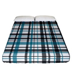 Plaid Pattern Fitted Sheet (california King Size) by Valentinaart