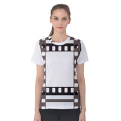 Frame Decorative Movie Cinema Women s Cotton Tee