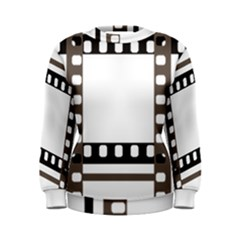 Frame Decorative Movie Cinema Women s Sweatshirt