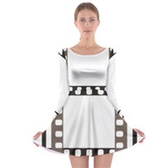 Frame Decorative Movie Cinema Long Sleeve Skater Dress by Nexatart
