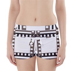 Frame Decorative Movie Cinema Boyleg Bikini Wrap Bottoms