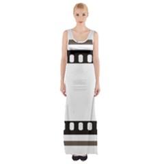 Frame Decorative Movie Cinema Maxi Thigh Split Dress