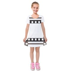 Frame Decorative Movie Cinema Kids  Short Sleeve Velvet Dress by Nexatart