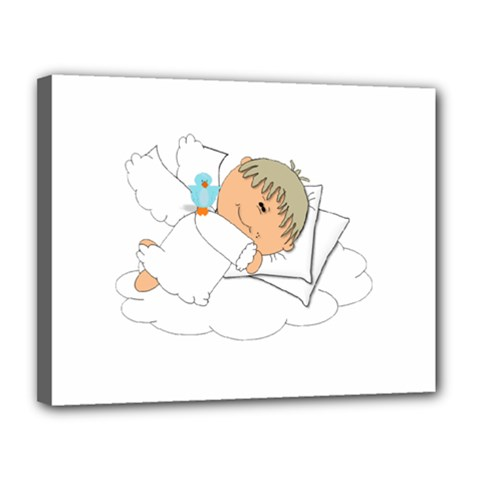 Sweet Dreams Angel Baby Cartoon Canvas 14  X 11  by Nexatart