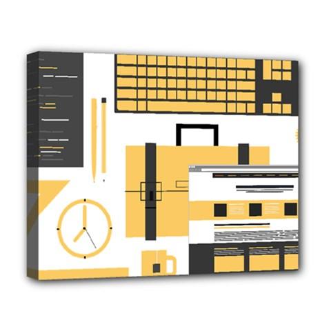 Web Design Mockup Web Developer Deluxe Canvas 20  X 16   by Nexatart
