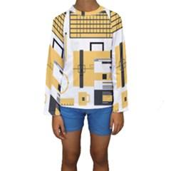 Web Design Mockup Web Developer Kids  Long Sleeve Swimwear