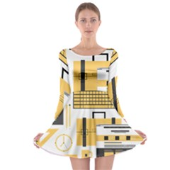 Web Design Mockup Web Developer Long Sleeve Skater Dress