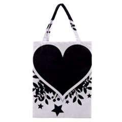Silhouette Heart Black Design Classic Tote Bag by Nexatart