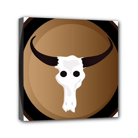 Logo The Cow Animals Mini Canvas 6  X 6  by Nexatart