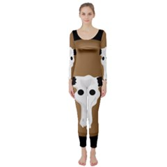 Logo The Cow Animals Long Sleeve Catsuit