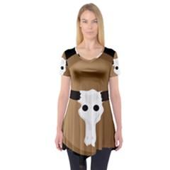 Logo The Cow Animals Short Sleeve Tunic