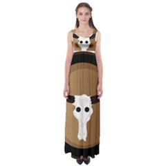 Logo The Cow Animals Empire Waist Maxi Dress