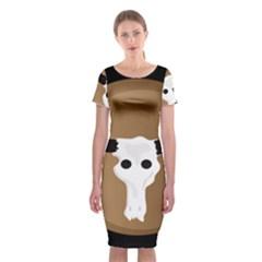 Logo The Cow Animals Classic Short Sleeve Midi Dress
