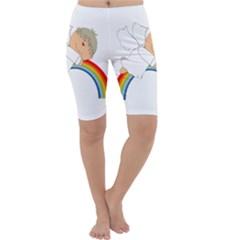 Angel Rainbow Cute Cartoon Angelic Cropped Leggings