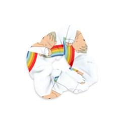 Angel Rainbow Cute Cartoon Angelic Velvet Scrunchie